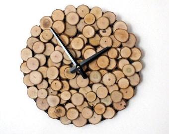 Rustic Wood Clock, Custom Father's Day, Wall Clocks , Large Wall Clock, Wall Clock Wooden