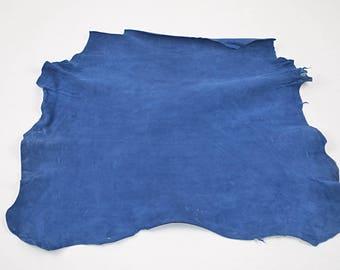 Royal Blue Velvet Lamb Leather Skin