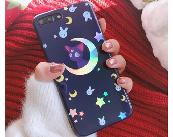 Sailor Moon Luna Purple iPhone Case Free Worldwide Shipping