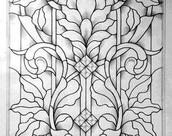 Art Nouveau Door Panel