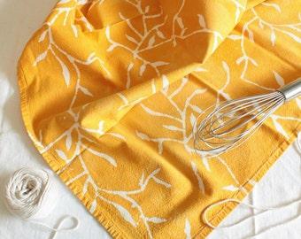 yellow vines batik towel