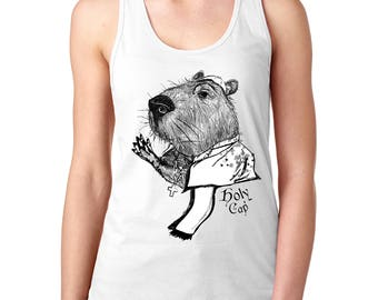 Holy Cap!: Capybara Racerback Tank