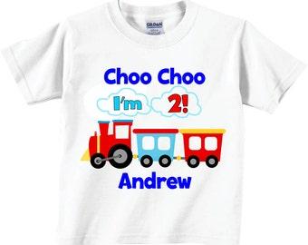 Choo Choo 2nd Birthday Shirts and Tshirts Tees