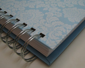 Address Guest Book - Bridal Shower Guest Book - Bride to Be - Replacement Labels - Guest Book Alternative - Message to Bride - Blue Damask