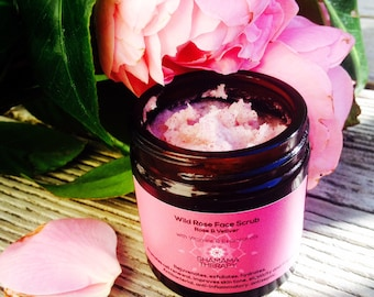 Wild Rose Face Scrub - Organic Face Scrub - Vegan Face Scrub - Body Scrub - Exfoliation