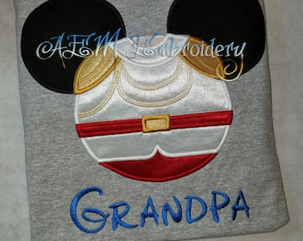 Personalized Prince Charming Mousehead Shirt