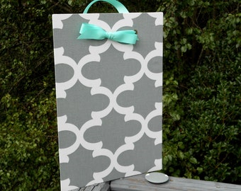 Cubicle Decor - Magnetic Message Board - Command Center - Cruise Door Decor - Fabric Magnet Board,  Fynn Fabric, Choice of Colors