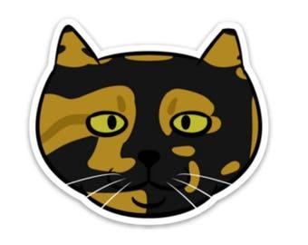 Pumpkin Feral Cat Sticker