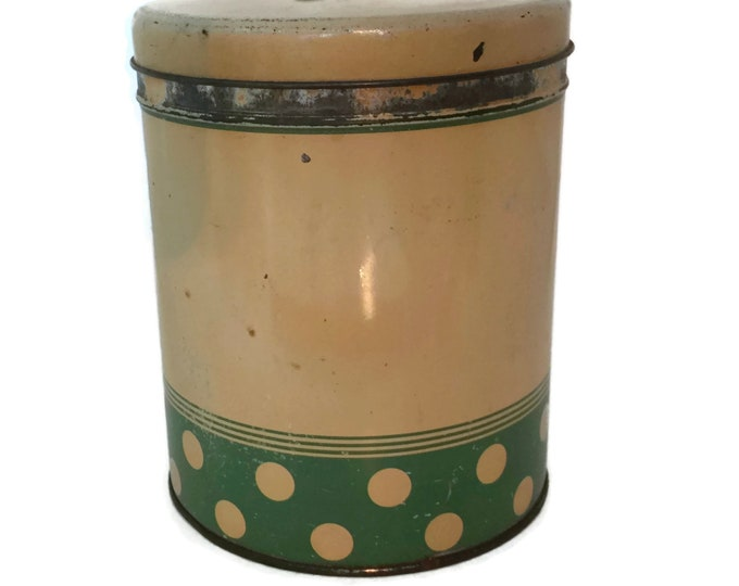 1940s OLD RELIABLE COFFEE Chippy Old Vintage Tin
