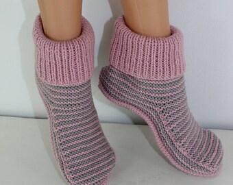 HALF PRICE SALE Adult Stripe Boots knitting pattern by madmonkeyknits - Instant Digital File pdf download knitting pattern