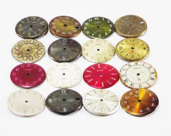 Steampunk crafting clock faces vintage supplies watch faces vintage hands large faces steampunk watch parts arrow clock repair clock part
