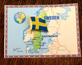 Sweden Flag Pin / Tie Tack / Lapel Pin / Country Flag Pin