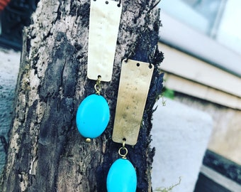 Brass & turquoise