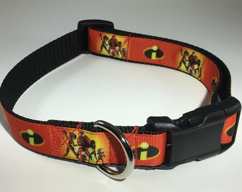 "Incredibles 1"" Large Dog Collar"
