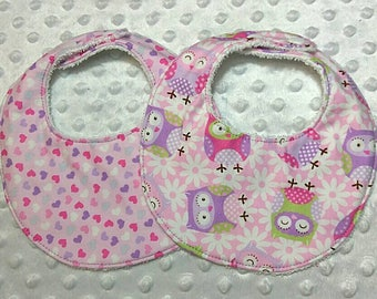 Newborn Baby Bibs, 3 Layer Bib, Extra Absorbent Bib, Bib with Terry Cloth Back, Infant Bib, Newborn Bib, Baby Shower Gift, Baby Bibs