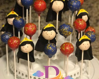 Cake Pops: 12 Wonder Woman Inspired Cake Pops Perfect for Birthday Party Favors - Superhero Party Favors