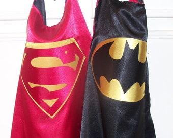 Ready to ship batman/superman cape, Superhero cape, kid cape, birthday party cape