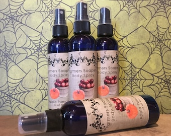 Apple Pumpkin Scented 4oz Body Spray Body Spritz Fragrance Hair Conditioner Spray Perfume Scented Body Mist