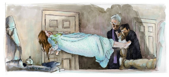 The Exorcist - The Power of Christ Compels You  Art Poster Print