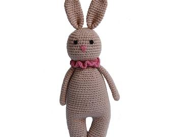 Crochet Bunny- Crocheted Bunny, Newborn Bunny Gift, Photo Prop Bunny, Newborn Shower Gift, Amigurumi Bunny, Bunny Plush