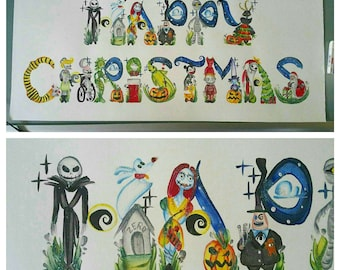 Custom Nightmare Before Christmas Name Painting [One of a Kind]