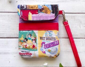 Disney Princess wristlet, cellphone pouch, gadget pouch, travel bag, eco friendly