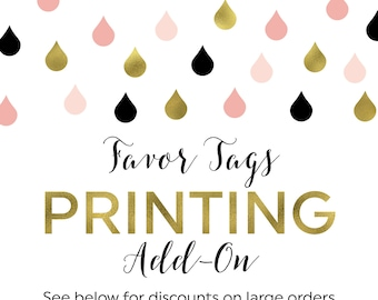 Printing Add-On for Favor Tags
