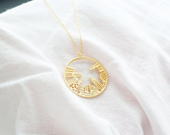Long and Layering New York City Necklace, NYC Pendant, Skyline Necklace