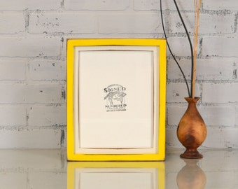 """8.5x11"""" Picture Frame in 1x1 Deep Flat Build Up Style and Vintage Finish Color Combination OF YOUR CHOICE - 8.5x11 Frame - Letter Size frame"""