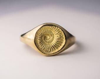 The Golden Spiral - bronze ring by h i p p i e k o a l a