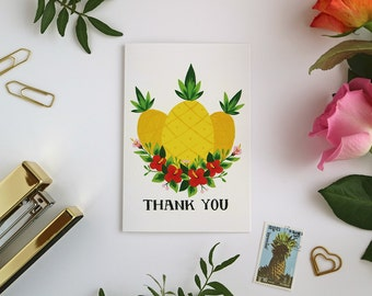 Pineapples Card - Thank You Card - Greeting Card