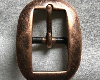 """3/4"""" Antique Copper Cart Buckle"""