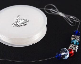 Stretch transparent rubber elastic nylon for DIY stretch bracelets  strength 0,6 or 1,0 mm  1 roll