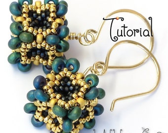 TUTORIAL Baroque Cube Beaded Bead Made with Peyote Stitch and Seed Beads