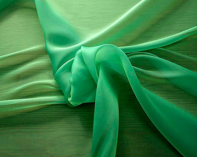 232080-organdy Cangiante Natural Silk 100%, 135 cm wide, made in Italy, dry cleaning, weight 55 gr, price 1 meter: 55.24 Euros