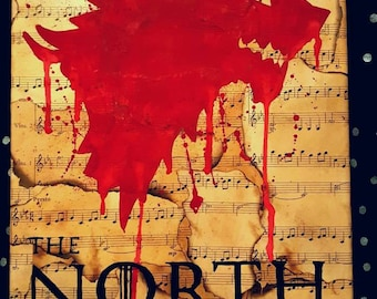9x12 Game of Thrones sheet music House Stark Canvas