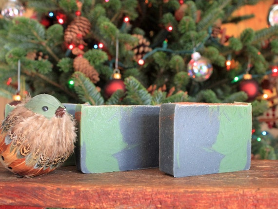 Christmas by the Fire Soap~handmade soap,cold process,scented