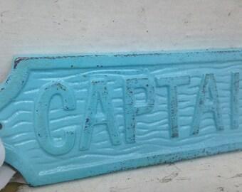 Captain, Captain's Sign, Cast Iron Wall Decor