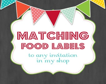 Matching Food Tents to any Invitation in my shop