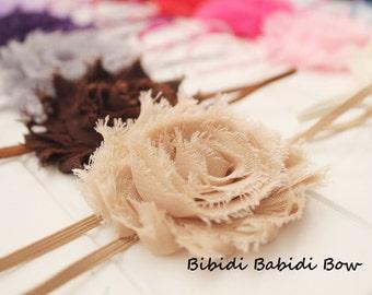 Girls headband - Set of 6 - baby shower gift - toddler, little girl headband - infant headband- shabby chic flower- Birthday gift -