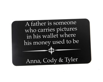 Personalized Father's Day Gift - Custom Wallet Card for Dad