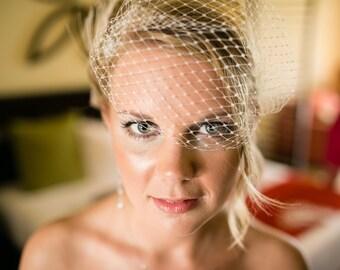 Hochzeit Schleier, Brautschleier, Französisch Net, Schleier, Bandeau-Schleier, kleinen Schleier, VIntage-Stil Schleier, weißen Brautschleier, Elfenbein Brautschleier, Schleier
