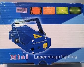 Portable Led Mini Disco Laser Stage Lightinge Case Brand New FREE SHIPPING