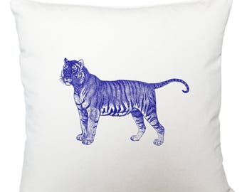 Cushions/ cushion cover/ scatter cushions/ throw cushions/ white cushion/ blue tiger cushion cover