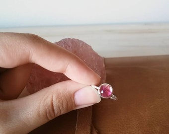 Tourmaline on Sterling Silver Ring