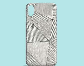 Stripes mobile phone case / iPhone X, iPhone 7, iPhone 7 Plus, iPhone SE, iPhone 6S, iPhone 6, iPhone 5S, iPhone 5, iPhone 8 stripes case