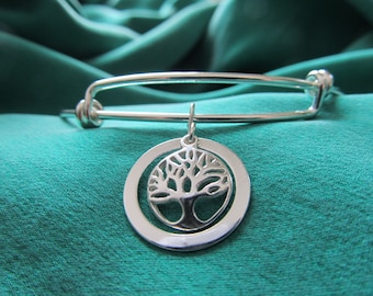 Tree of Life Sterling Silver Bracelet designed by Diane Kirkup