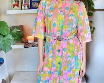 Vintage 70s Mod Smock Dress