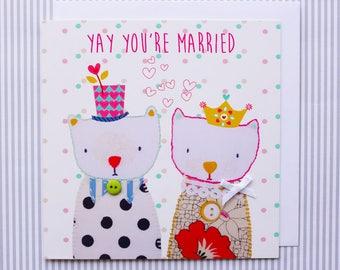 Yay You're Married Greeting Card