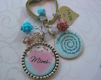 Personalized Mimi keychain in two colors